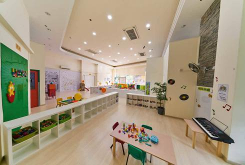 Towards the far left is the Music & Movement area where we create future musicians and dancers. Children can dance and hone their musical talent as they explore readily available props and musical instruments inside the spacious area.