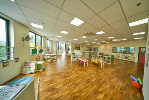 The 3rd storey is where most of the learning takes place for our pre-schoolers. This floor houses the Toddler, Nursery 1, Nursery 2, Kindergarten 1 and Kindergarten 2 classes.