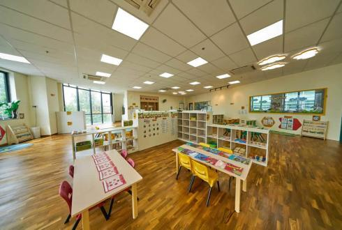 The pre-school is intentionally designed to have an open concept. This is to fortify the children social skill by breaking through silos and ages. The daily schedules for each class are planned such that there are no disruptions during lessons. Our trained teachers ensure effectiveness of the intent throughout the day.