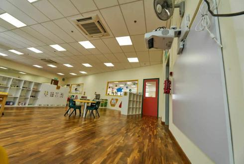 Our school is equipped with advanced technology such as the interactive projector which our teachers use for our e-curricula.